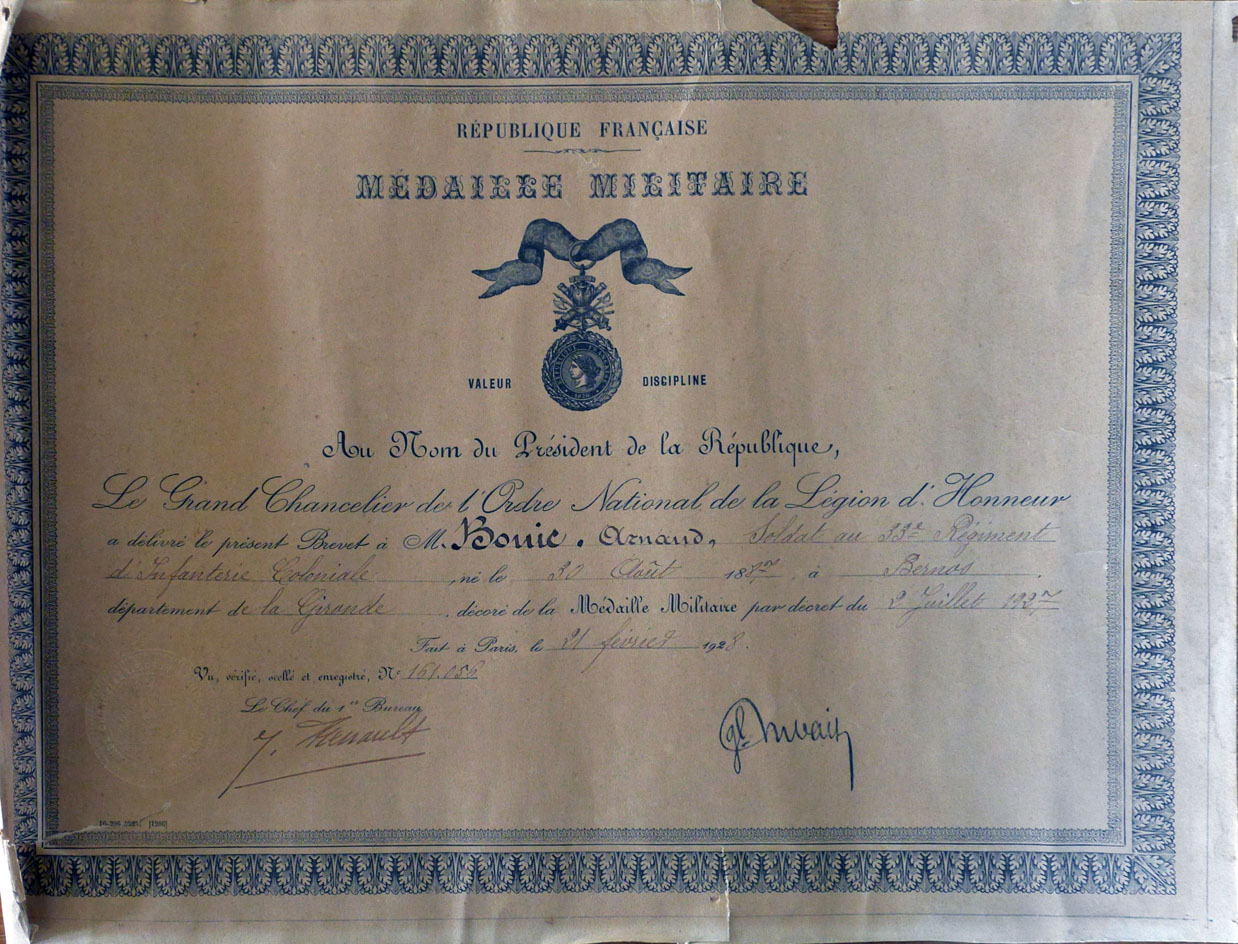 Bouic Arnaud medaille  militaire